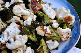 Best Roasted Broccoli and Cauliflower