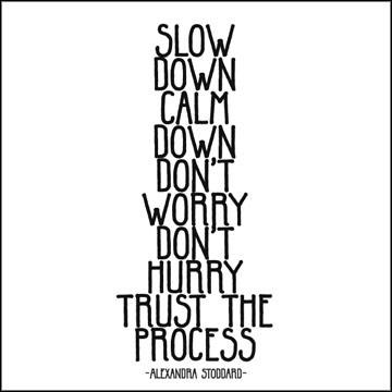 Trust the Process Calm Down