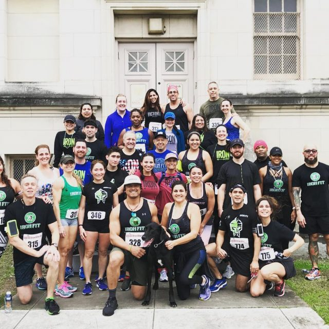 Iron Fit taking over the street2feet 5k!! rollingdeep 5k sanantoniohellip