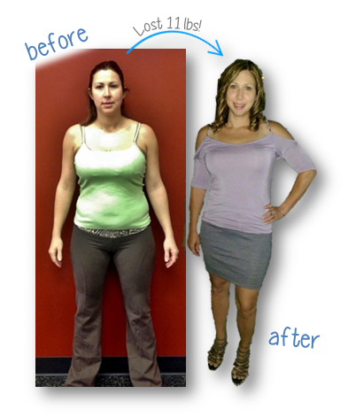 Amanda Sloan - Background with words lost 11lbs