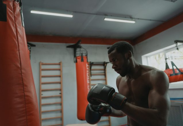 Workout With A Punching Bag