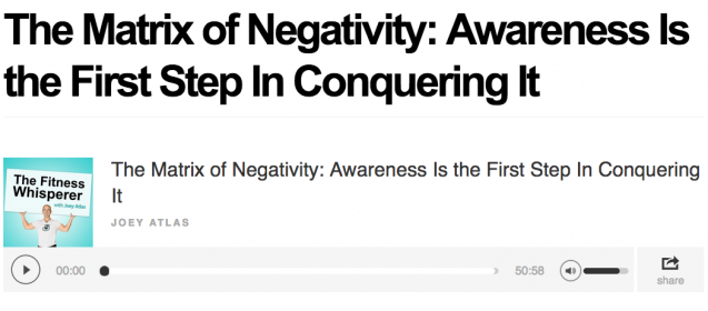 Beating the Matrix of Negativity In Your Life