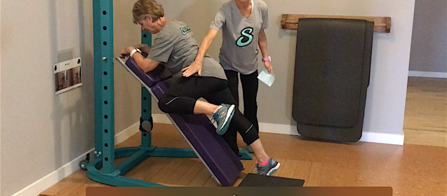 Personal Trainer MasterCoach MaryAnne and Susan In Personal Training Session