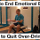 How to Stop Emotional Eating and How to Quit Drinking