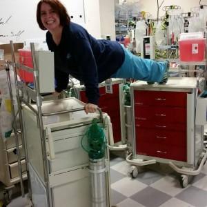 Donna Dupras crash cart plank