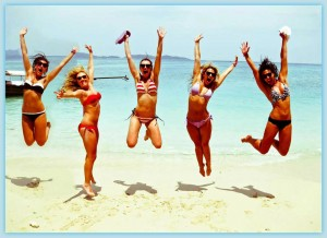 women jump for joy2shadow