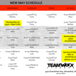 worx may schedule
