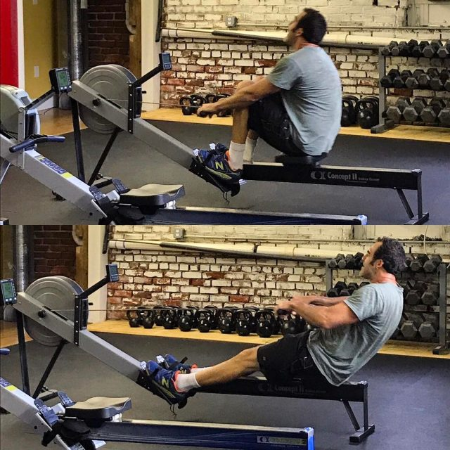David crushing it on the rower enduranceftw killerform uastrong mtairyhellip