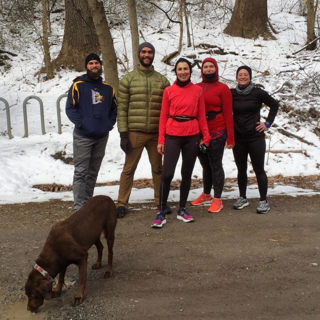 The Love Runners and Lua the beautiful chocolate lab ranhellip