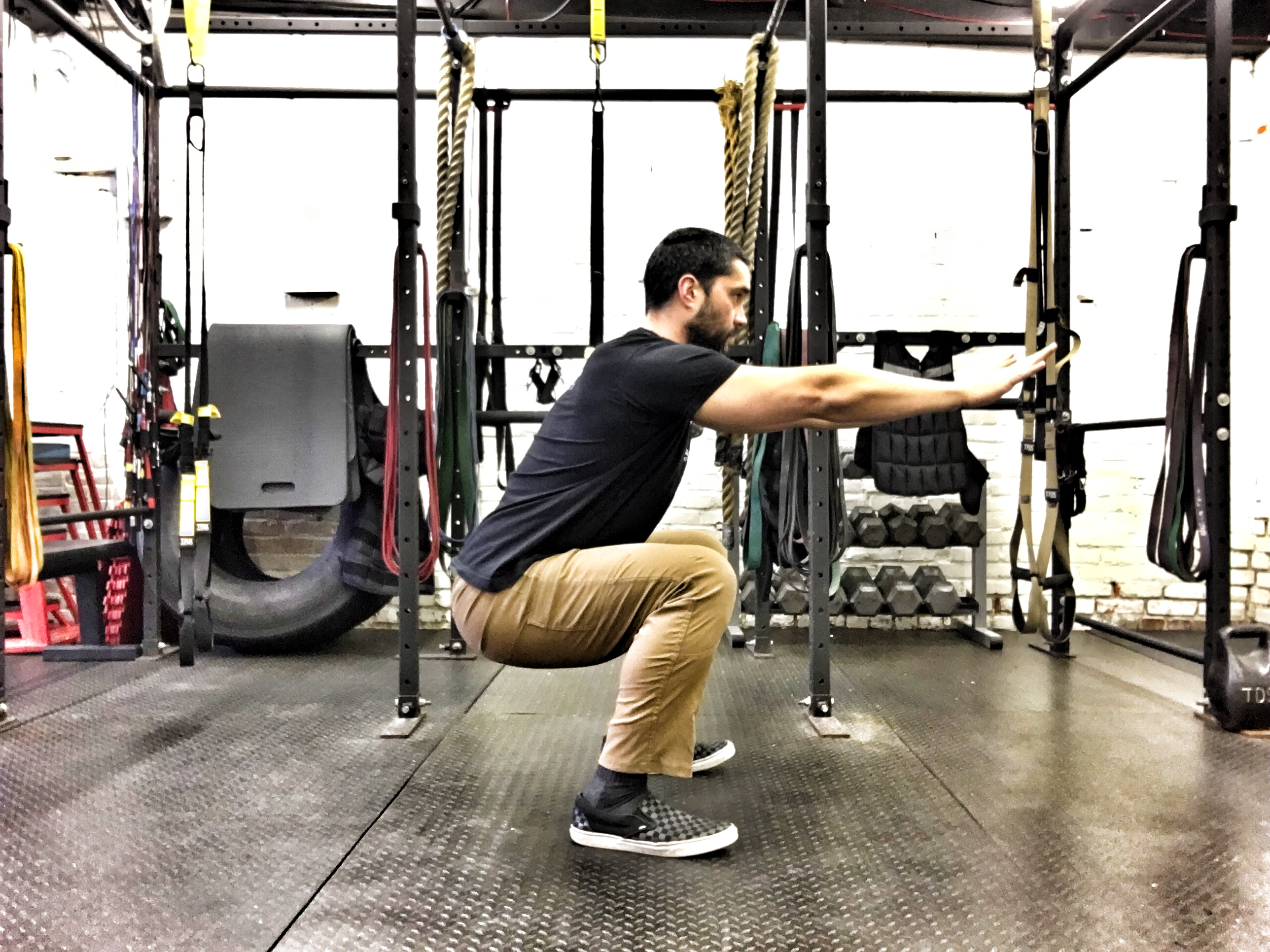 Position squats Bottom