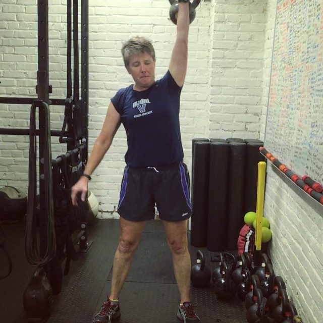 Lots of strong kettlebell snatch work this morning UA Exhibithellip